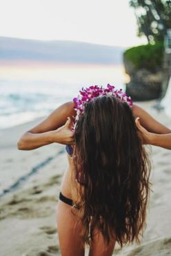 aloha //  check us out on instagram @ellemerswim x: Beache, Boho Hairstyles, Hair Styles, Long Hairstyles, Hair Cut, Short Hairstyles, Summer, Beach Hair, Hair Color