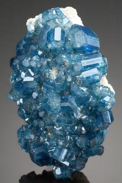 Apatite - Brazil Blue apatite makes a good substitute for paraiba tourmaline in that the colors are quite similar.  Although apatite is far less costly, it is a soft stone, making it not suitable for rings.: Crystals, Gemstones, Brazil, Precious Stones, C