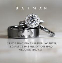 BATMAN Tungsten and 925 Sterling Silver 2 CARAT by Cloud9Tungsten, except I would get the batman ring in black ;):
