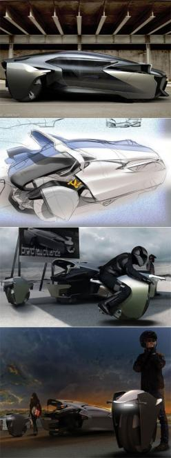 Bobin Kil's car concept with removeable, driveable wheels Posted by hipstomp / Rain Noebig solution: suburbs.. long distance with the car, near centres, wheel used .. , ... the parked car is quite smaller, then secure, the little part is used inside c
