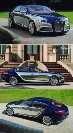 "Bugatti 16C Galibier ~ Scheduled to hit the market sometime in late 2014, early 2015, with over 1,000 HP. The Galibier will have a top speed over 378 km/h (235 mph) and will be ""faster than anything currently on the market."": Bugatti 16C, Dream Ca"