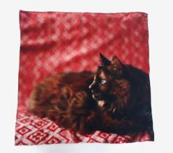 Calling all cat lovers! This handkerchief features a photo of the artist's cat and you'll love the story behind it.: Crazy Cats, Animals, Say Cats, Cats And Kittens, Handkerchiefs, Crazy Cat Lady, Adorable Cats, Products