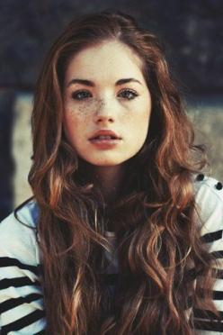 Character inspiration: girl, brown curly hair, brown eyes, freckles: Girls, Faces, Style, Makeup, Hairs, Beauty, Beautiful People, Freckles, Hair Color