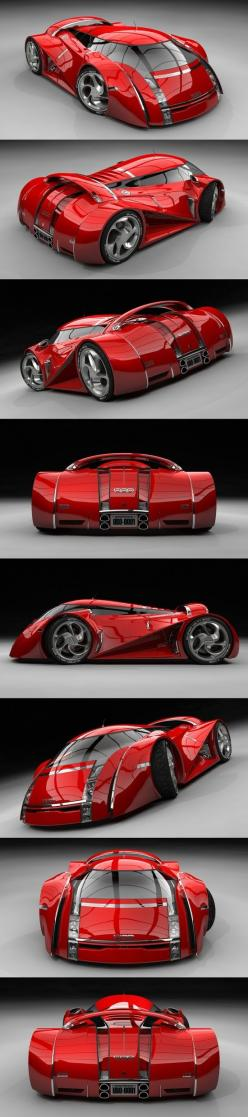 Concept Car Rouge / UBO. Now thìs is a real concept car: something radical different, i Love it: Conceptcars, Automobile, Cars, Future Car, Cars Concept, Concept Cars