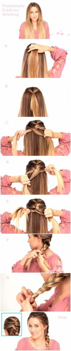 Easy Braided Hairstyles Tutorials: Trendy Hairstyle for Straight Long Hair: Easy Braided Hairstyle, French Braids, Hair Styles, Hair Tutorial, French Braid Tutorial, Easy Hair Style