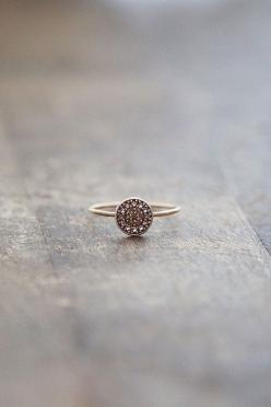 for the twinkle-eyed bride.: Raw Diamond Ring, Thin Gold Ring, Engagement Ring, Dainty Ring