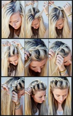 French braid half up side; my hair might not be quite long enough yet, but it will one day!: French Braids, Hairstyles, Hair Styles, Makeup, Front Braid