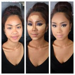 Full face contour. I am waaaaaaay too lazy to ever do this, but it's good to know just in case!: Contours, Face, Make Up, Makeup Tips, Beauty, Contouring