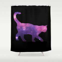 Galaxy Cat Shower Curtain: | Community Post: 20 Cat-Themed Items You Need For Your House Right Meow: Showers, Cats, Spaces, 20 Cat Themed, Space Cat, Cat Shower Curtain, Shower Curtains, Products