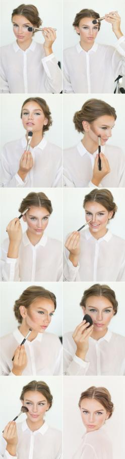 Give contouring a whirl so your face glows beauty hack |  Way To Up Your Makeup Game For New Year's Eve: Makeup Tutorial, Make Up, Beauty Tips, Makeup Tips, Makeuptips, Hair Makeup