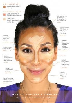 glo How-To: Contour and Highlight: Beauty Tip, Beautytips Contouring, How To Contour And Highlight, Glo How To, Makeup Tips, Contouring Highlights, Contouring And Highlighting, Makeup Beauty