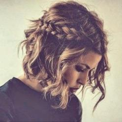 Gorgeous hair idea for every day or for a fancy occasion. Get your hair styling products from Beauty.com.: Short Hair Hairstyle, Hairstyles, Hairdos, Short Hair Style, Short Hair Curl, Short Hair Do, Haircut, Short Hair Braid