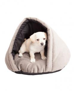 Gray Eskimo Pet Bed//: Pets Beds, Cat, Dogs, Beds Petbeds, Pet Beds, Dog Beds, Cozy Pet, Eskimo Cozy, Animal