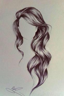 hair cuts for long hair styles: Hair Drawings, Sketch, Hairstyles, Art Drawing, Hair Styles, Long Hair, Drawing Hair, Beauty