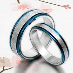 His and Her Promise Rings  Blue Wedding by MymomentJewelry on Etsy, $165.00: Titanium Rings, Wedding Engagement, Wedding Ideas, Jewelry, Wedding Bands, Blue Weddings, Wedding Rings, Engagement Rings