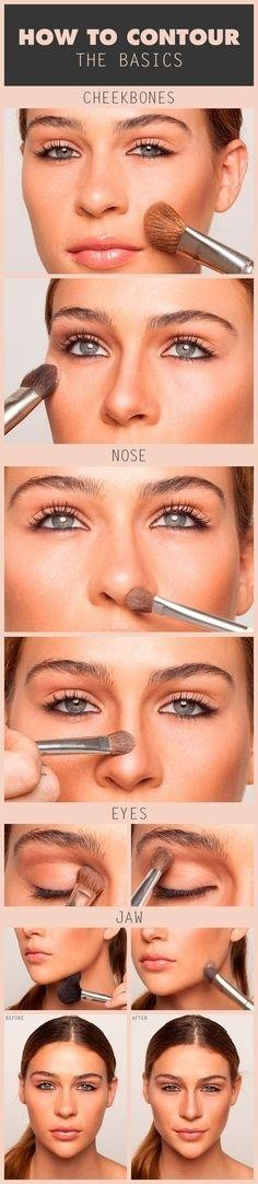 How to Contour | Community Post: 32 Creative Life Hacks Every Girl Should Know: Makeup Tutorial, Contours, Beauty Tips, How To Contour, Makeup Tips, Makeuptips, Hair Makeup, Makeup Ideas