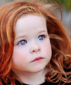 I always imagined our daughter would have looked a lot like this little girl, curly red hair and bright blue eyes like her daddy...: Girl, Red Hair, Beautiful, Children, Baby, Redheads, Red Head, Eye, Kid
