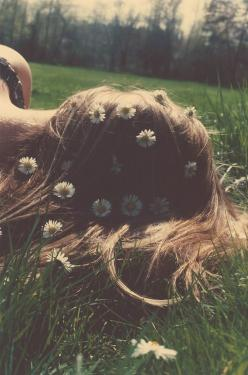 It is irrelevant whether anyone knows about you or not, whether you live totally unknown, unheard of, unnoticed. But if you are blissful, you have succeeded. ~Osho: Girl, Hippie, Style, Hairs, Daisies, Summer, Flowers, Flower Child, Photography