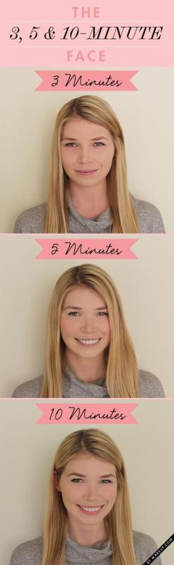 Just because you've hit the snooze alarm a zillion times, doesn't mean you can't look good: | 44 Lazy Girl Beauty Hacks To Try Right Now: Makeup Tutorial, Face, Beauty Tips, Beauty Hacks, Makeup Tips, Zillion Times, 10 Minute, Lazy Girl