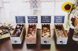 Love this idea of gemstones as wedding favours at a bohemian wedding! Photography by Sarah Loven on the Free People Blog: Wedding Inspiration, Crystals Wedding, Healing Stones And Crystals, Wedding Idea, Crystal Wedding Favors, Wedding Crystals, Crystals