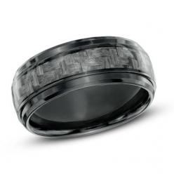Men's 8.0mm Grey Carbon Fiber Comfort Fit Black Titanium Wedding Band - Size 10: Fit Black, Titanium Wedding Bands, Men'S Wedding Rings Black, Black Titanium, Black Wedding Band, Black Mens Wedding Band, Carbon Fiber Ring, 8 0Mm Grey