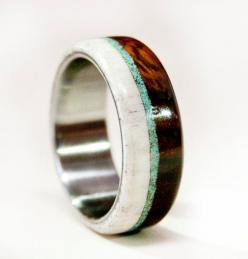 Mens Wedding Band Wood and Antler with Titanium by StagHeadDesigns, $200.00: Band Wood, Wedding Ring, Mens Wedding Band, Men Wedding Bands, Wedding Ideas, Weddings, Woods