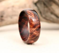 My husband wants this for his new wedding ring!  Cocobolo BURL Wooden Ring by WedgewoodRings on Etsy, $55.00: Mens Engagement Rings, Cocobolo Burl, Wooden Wedding Ring, Burl Wooden, Wooden Men'S Wedding Rings, Wooden Rings, Mens Wooden Ring, Wooden Me