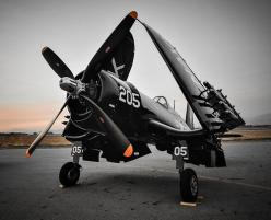 "Nasty little beastie in the air: the Chance Vought F-4U Corsair. Or, as the Japanese called her, ""Whistling Death."": Style, Airplanes, F4U Corsair, Aircraft, Random Inspiration, Photo, Warbird"