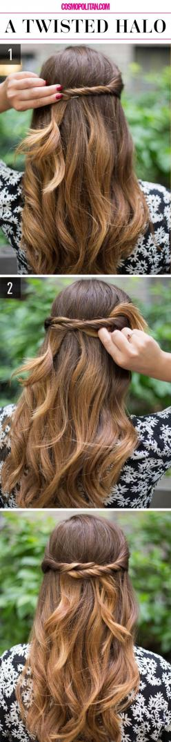 need this.: 15 Super Easy, Easy Hair Style, Girl Hairstyles, Super Easy Hairstyles, Half Up Hairstyle, Lazy Girls