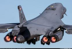 Rockwell B-1B Lancer The Rockwell (now part of Boeing) B-1 Lancer is a four-engine supersonic variable-sweep wing, jet-powered strategic bomber used by the United States Air Force (USAF).: Lancer Aircraft, Air Force, Aircraft Etc, B 1B Launch, Engines Glo