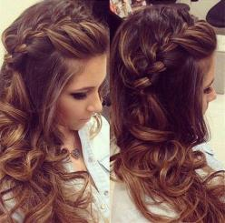 Romantic French side braid hairstyles for long hair,half-up and half-down,Fascinating Ways to Braid Your Long Hair: Hairstyles, Hair Styles