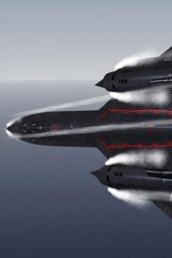 SR-71 Blackbird - high speed turn.... During reconnaissance missions the SR-71 operated at high speeds and altitudes to allow it to outrace threats. If a surface-to-air missile launch was detected, the standard evasive action was simply to accelerate and