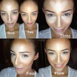 The power of contouring makeup: Contours, Idea, Make Up, Beauty Tips, Style, Face Contouring, Makeup Tips