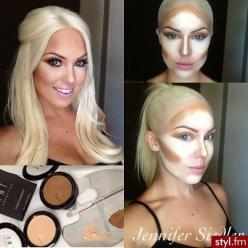 Tips for Contouring and Highlighting: Contours, Face, Make Up, Makeup, Beauty, Tips, Hair Color, Contouring