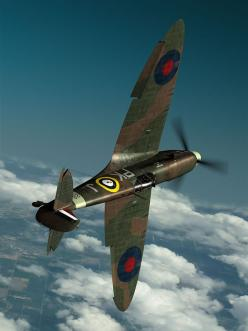 "Spitfire ... one pinner wrote "" My Grandpa flew this plane in WWII he shot down 8.5 enemy planes and was commisioned an ACE Bomber!"": Wwii, Airplanes, Aircraft, War Birds, Photo"