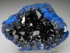 Azurite-Malachite-188417 - Copper mining in the United States - Wikipedia, the free encyclopedia: Crystals, Gemstones, Precious Stones, Gem Stones, Blue, Arizona, Rocks, Minerals