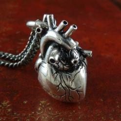 Anatomical Heart Necklace: Anatomically Correct, Style, Stuff, Heart Necklaces, Jewelry, Anatomical Heart