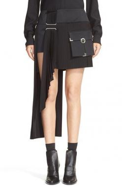 ANTHONY VACCARELLO Cargo Pocket Side Pleat Miniskirt available at #Nordstrom: Cargo Pocket, Pleat Miniskirt, Anthony Vaccarello, Pockets, Vaccarello Cargo