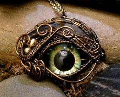 Creepy but cool gothic steam punk eye necklace: Eye Patch, Steam Punk, Steampunk Jewelry, Gothic Steampunk, Green Eye, Evil Eye, Eyes