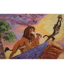 "Disney Dreams Collection By Thomas Kinkade The Lion King-5""X7"" 16 Count: Lionking, Disney Dreams, Cross Stitch, Dreams Collection, Thomas Kinkade, The Lion King"
