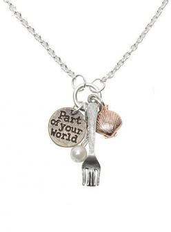 Disney The Little Mermaid Fork Shell Charm Necklace   Hot Topic. I JUST GOT THIS AHHHH!!: Little Mermaids, Charms, Mermaid Fork, The Little Mermaid, Disney, Fork Shell, Charm Necklaces, Hot Topic