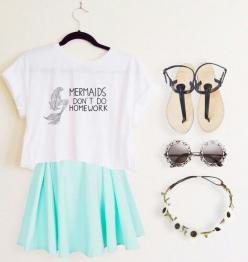 Everyday New Fashion: Famous Summer Outfits  - Find The Top Juniors and Teens Clothing Stores Online via http://AmericasMall.com/categories/juniors-teens.html: Skirt Outfits For Teens, Outfits For Teens For School, Style, Everyday Dresses For Teens, Teen