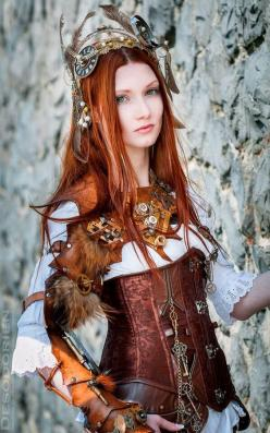 Fantasy | Magical | Fairytale | Surreal | Enchanting | Mystical | Myths | Legends | Stories | Dreams | Adventures |: Cosplay, Steampunk Fashion, Steampunk Style, Steampunk Tendencies, Steam Punk, Costume, Redhead, Steampunk Girls, Red Head