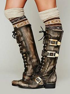 Free People Kantell Lace Up Boot, $368.00 -- I wish these were faux and much cheaper. Love the style. Look for similar vegan boot.: Free People Boot, Style, Lace Up Boots, Steam Punk, People Kantell, Kantell Lace, Christmas Gift
