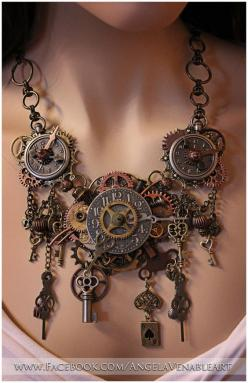 http://www.etsy.com/listing/156284680/steampunk-necklace-steampunk-jewelry?ref=sr_gallery_44_search_query=steampunk+jewelry_order=most_relevant_view_type=gallery_ship_to=US_search_type=all #provestra: Idea, Statement Necklace, Steampunk Style, Steampunk C