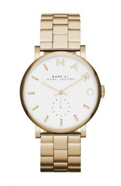 MARC BY MARC JACOBS 'Baker' Bracelet Watch, 37mm available at #Nordstrom: Bracelet Watch, Jacobs Baker, Bracelets, Marc Jacobs Watch, Marcjacobs, Watches, Rose Gold, Stainless Steel