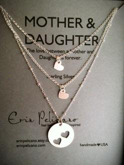 Mother Two Daughters Necklace Set...next Mother's Day!: Mothers Day Idea, Daughters Necklace, Mother Daughter Necklace, Baby Girl Gift, Christmas Gifts For Mother, Gift Ideas For Sister, Mothers Day Gift, Sister Christmas Gift, Christmas Gifts For Sis