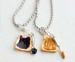 Peanut Butter And Jelly Sandwich Necklaces $17.15: Friends Necklace, Peanuts, Best Friends, Best Friend Necklaces, Jewelry, Bff Necklace, Butter Jelly, Peanut Butter