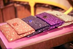 Sparkle.: Glitter Clutches, Fashion, Purse, Style, Sparkle, Accessories, Bags