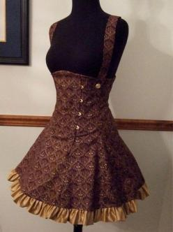 Steampunk dress <3 don't think i could ever wear it, but i would paint it and look at it daily in my closet :D: Steampunk Skirt, Lolita Pattern, Steampunk Sewing Pattern, Steam Punk Skirt, Steam Punk Dress